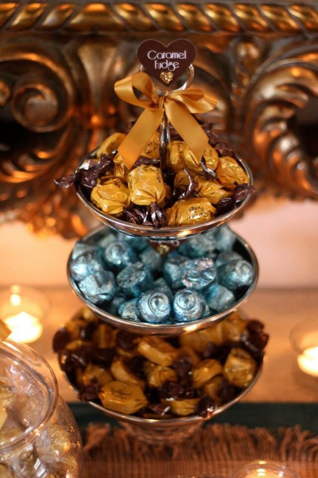 Vintage Gold Candy Buffet