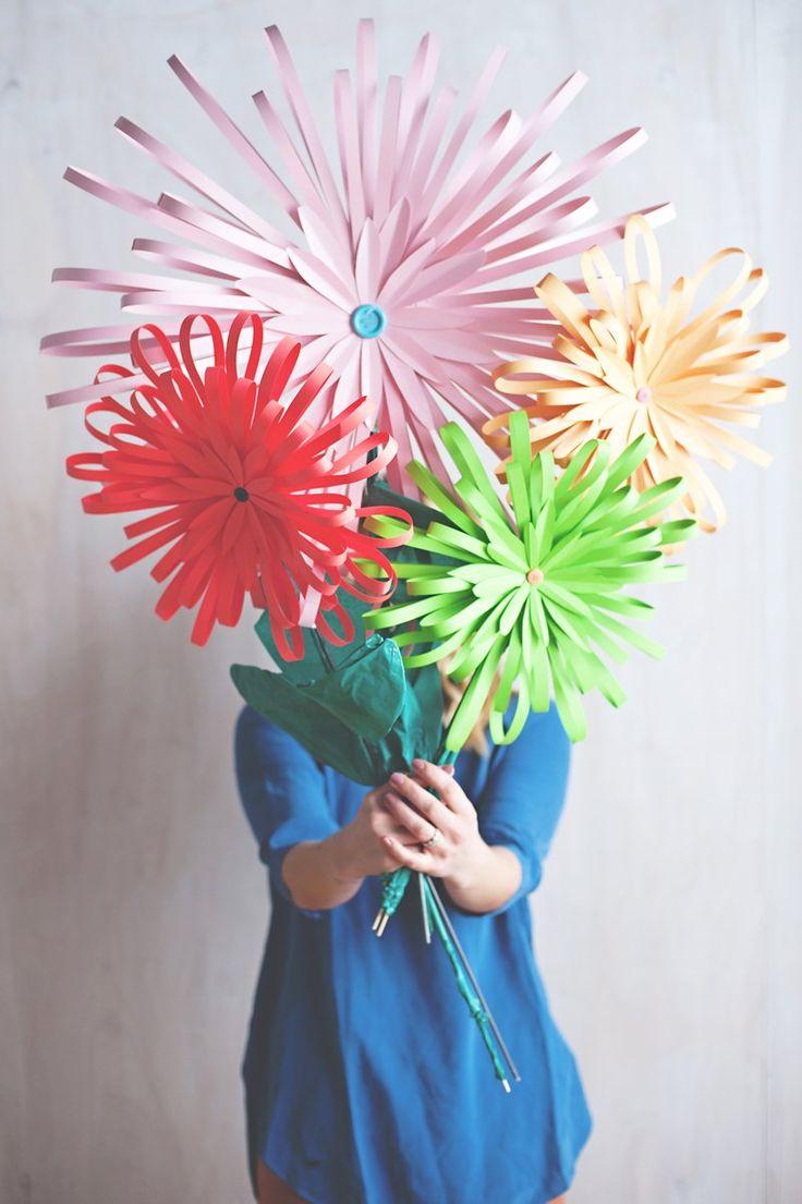 best Paper Flowers images on Pinterest  Flower crafts Paper