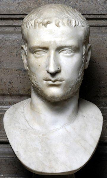 ~Emperor Gallienus, Roman bust (marble), 3rd century AD, (Palazzo Nuovo, Rome)~