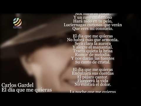 Carlos Gardel - El día que me quieras (Letra-Lyrics) (HQ Audio) - YouTube