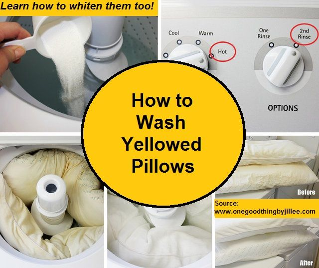How to Wash Yellowed Pillows...For more creative tips and ideas FOLLOW https://www.facebook.com/homeandlifetips