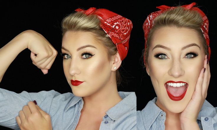 4th of July Makeup | Rosie the Riveter Inspired Pin Up | Glamnanne