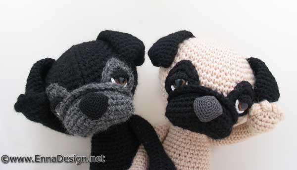 Amigurumi Pug Patron : 232 best images about amigurumi dogs on Pinterest ...
