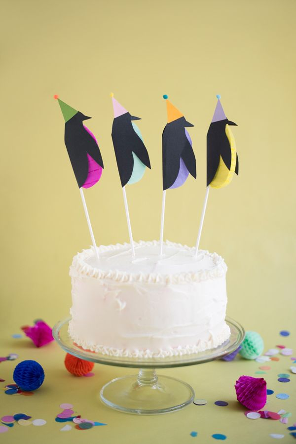 Penguin Cake Toppers DIY | Oh Happy Day! | Bloglovin'