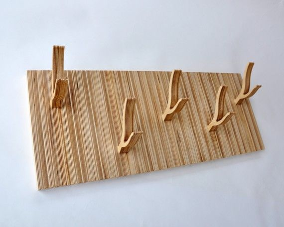 Modern 5Peg Coat Rack  TWIGGY series  'Up and by StudioLiscious, $189.00