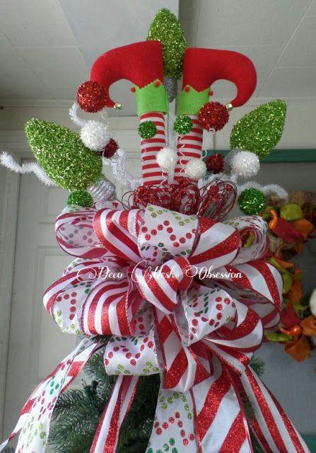 M s y m s manualidades decoraciones navide as con piernas - Decoracion navidad moderna ...