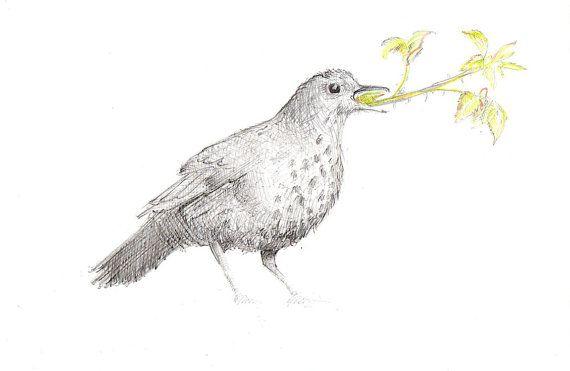 Speak to me of brambles and berries - original drawing on gesso panel - Jane Locke