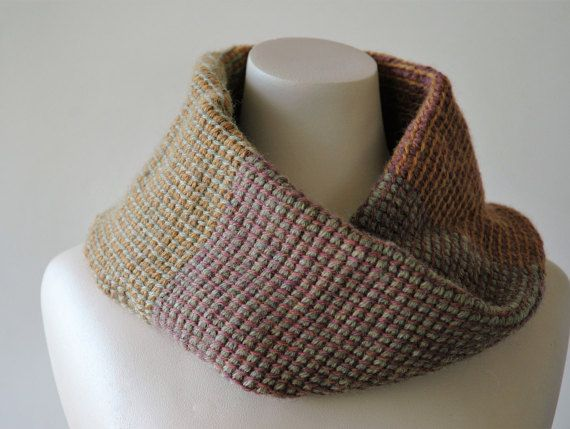 Tubular twisted cowl in soft autumn colours  by KororaCrafters