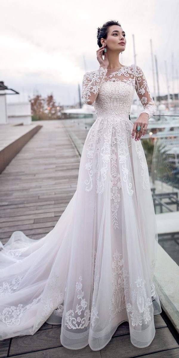 30 Best Lace Wedding Dresses With Sleeves – HAPPY-GO-LUCKY
