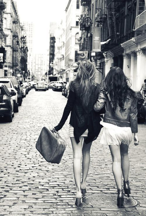 This will be me and Lauren!! Especially since she's tall, leggy, and blonde, and I'm shorter and dark haired