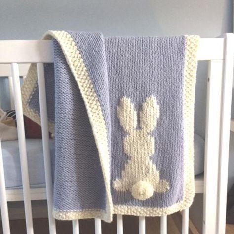 Baby rabbit blanket, Pattern rabbit blanket, English ...
