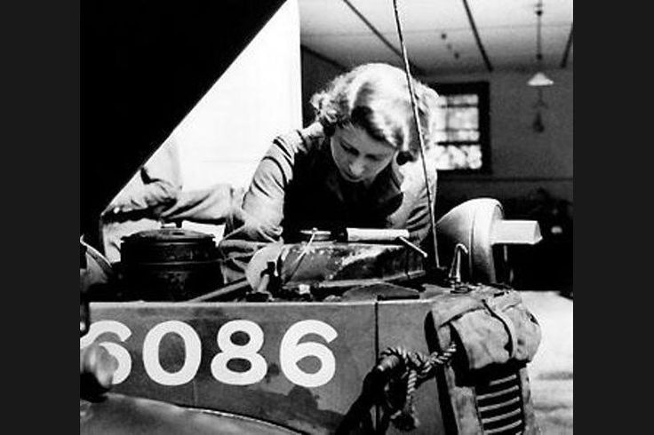 "She Worked as a Mechanic During World War II During World War II, then Princess Elizabeth got her hands dirty, joining the Women's Auxiliary Territorial Service in 1945. As ""Second Subaltern Elizabeth Alexander Mary Windsor"" she trained as a mechanic and driver. It looks like military men Prince William and Prince Harry take after her."