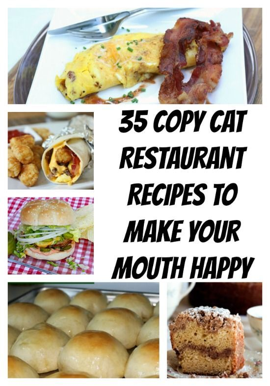 I love to go out to eat but I hate the price. Here are 35 Copy Cat Restaurant Recipes that you can make at home and stay in budget.