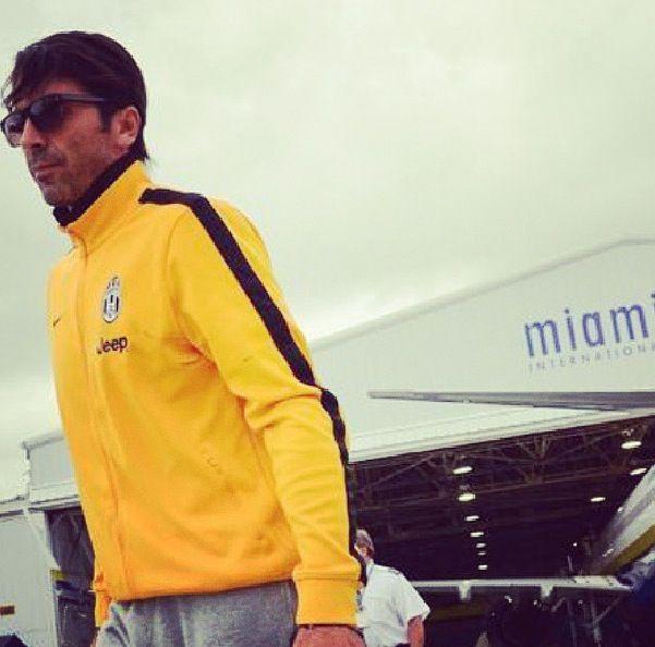 Gigi Buffon  Juventus, arriving at Miami
