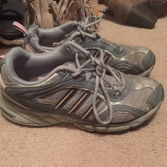 Adidas trail running shoes Used condition Used condition Adidas athletic shoes. I wore then for joking and trail running due to the thicker soles Adidas Shoes Athletic Shoes