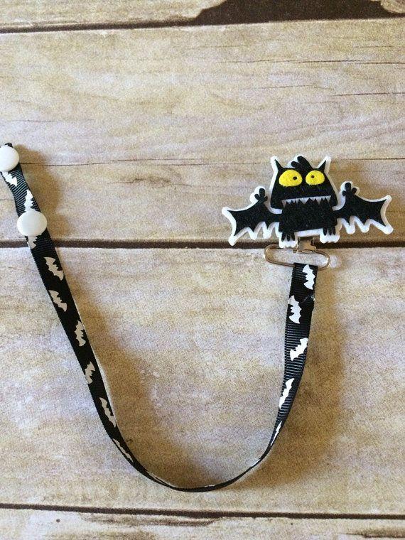 Bat Pacifier Clip #halloween #bat