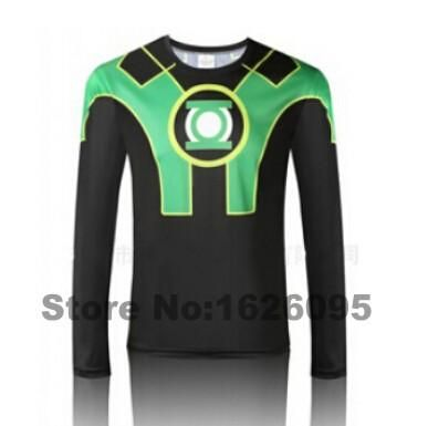 Newest sleeved men's shirt compression marvel captain america / Ironman / Sipder man / superman tights shirt