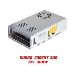 Sursa Alimentare 30A 360W 12V este perfecta pentru montajele profesionale de banda led indiferentde modelul ales si pentru camerele de supraveghere cctv