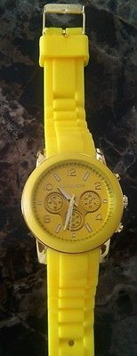 Michael kors yellow rubber watch women - men watches - mk unisex