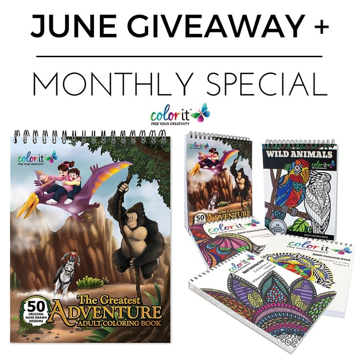 ColorIt is giving away one copy of The Greatest Adventure each day in June. No Purchase Necessary.