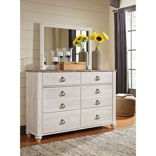 Shop for Signature Design by Ashley Willowton Two-tone Dresser with Mirror. Get free shipping at Overstock.com - Your Online Furniture Outlet Store! Get 5% in rewards with Club O!