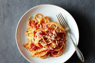 Marcella Hazan's Tomato Sauce with Onion and Butter Recipe on Food52 recipe on Food52