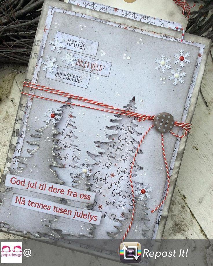 Jul i september I dag viser jeg årets første julekort for @papirdesign