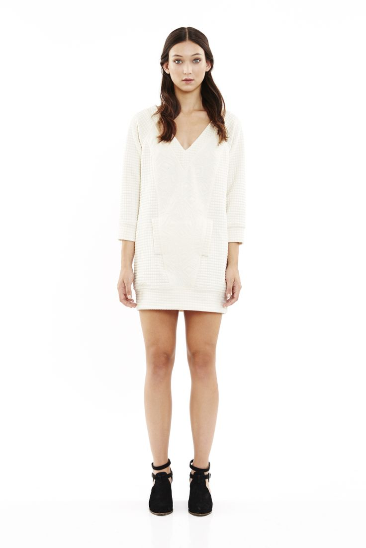 Silent Type Dress in Ivory