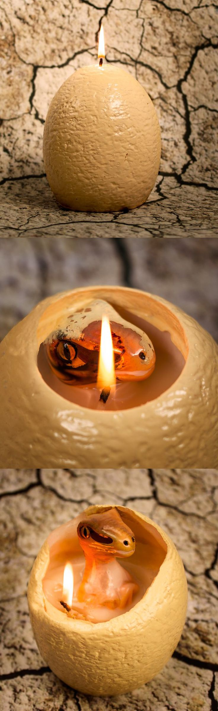 Who says you can't bring dinosaurs back to life? Now you can, all you need is this egg and flame. Check it out==> | Hatching Dinosaur Candle | http://gwyl.io/hatching-dinosaur-candle/