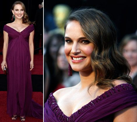 Natalie Portman purple Rodarte dress 2011 Oscars