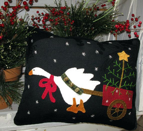 Christmas Goose pulling Christmas Tree in by SimplyUniqueBySheila, $7.95
