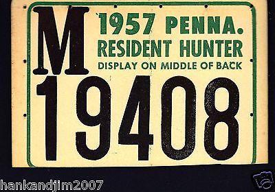 Pennsylvania State Resident Hunting License 1957