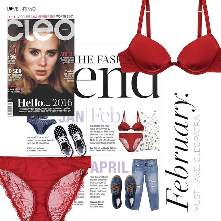 Red, lacy and the ultimate ‪#‎feelgoodfit‬. Cleopatra is your Valentine's Day must have (as seen in this month's CLEO Magazine): https://goo.gl/DxG8yp