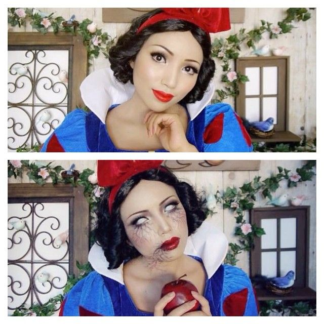 Created these two different Snow White looks using my favorite @bhcosmetics products