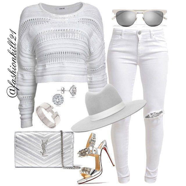 MILK DOES A BODY GOOD DETAILS: Sweater #Helmutlang Frames/Purse #Saintlaurent Jeans #Fiveunits Hat #Singer22 Bracelet #Hermes Shoes #Christianlouboutin #Styledbyfashionkill21