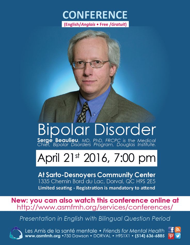 *** Online Free Conference on #bipolardisorder today, 7:00pm *** http://www.asmfmh.org/services/conferences/