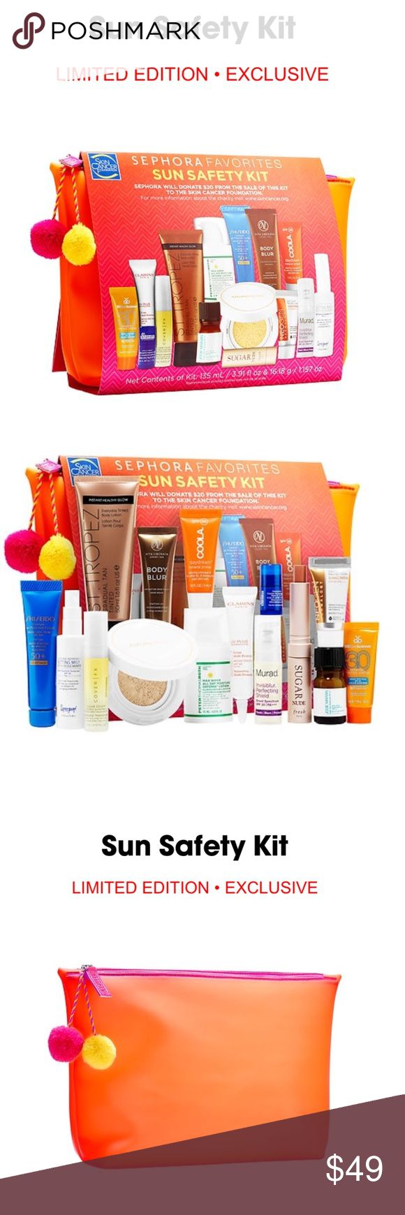 ☀️ Sephora 2017 Sun Safety Kit ☀️ 🎀 15-piece set of popular and high-end products to help you get - and keep - a healthy glow without sun damage! 🎀 $132.00 Value. ☀️ Limited Edition! Sephora Exclusive! ☀️ Various Makeup