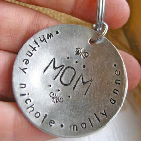 For Mom Round Aluminum Keychain - click to get yours right now!