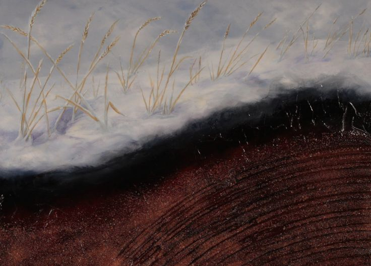 """""""Drifts"""" 2016 by James M. Clow 24""""x18"""" Mixed Media including acrylic and potash on cradled birch board."""