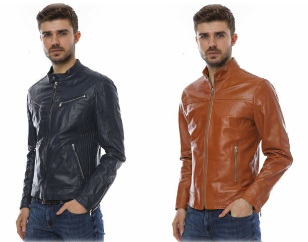 Slim fit leather jackets for men from MANGOTTI at: https://storebrandsvip.com/b2b/products/?brand=5&gender=2