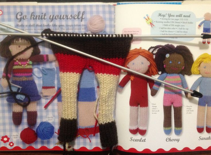 Go Knit Yourself: Crafty Dolls by Jane Bull. Made by northstar62 - finished doll to come