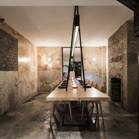 ACME: The new Sydney Italian restaurant has exposed brick and patina walls.