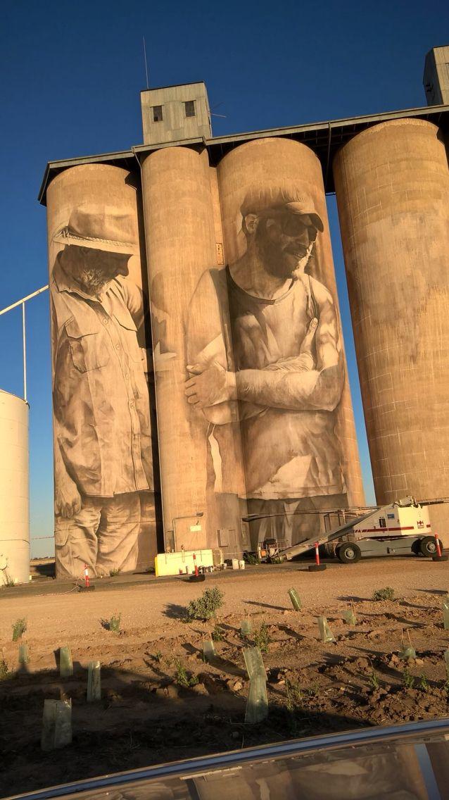Wheat Silo Murals, Brim, Victoria - Guido Van Helten