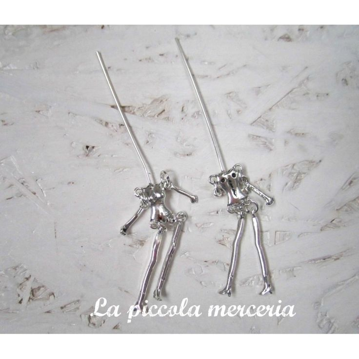 Base ciondolo bambolina metallo metal doll 45 mm bambola personalizzabile