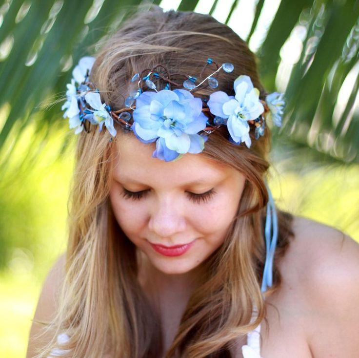 Coroinha de Flores Azul Celeste - G.Offer