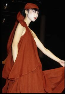 Sayoko models Miyake in 1979. Photograph: Robyn Beeche