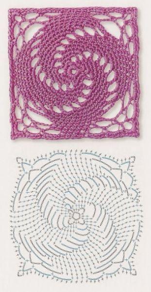 Delicadezas en crochet Gabriela: Patrones gratis ; Cuadrados de la abuela…