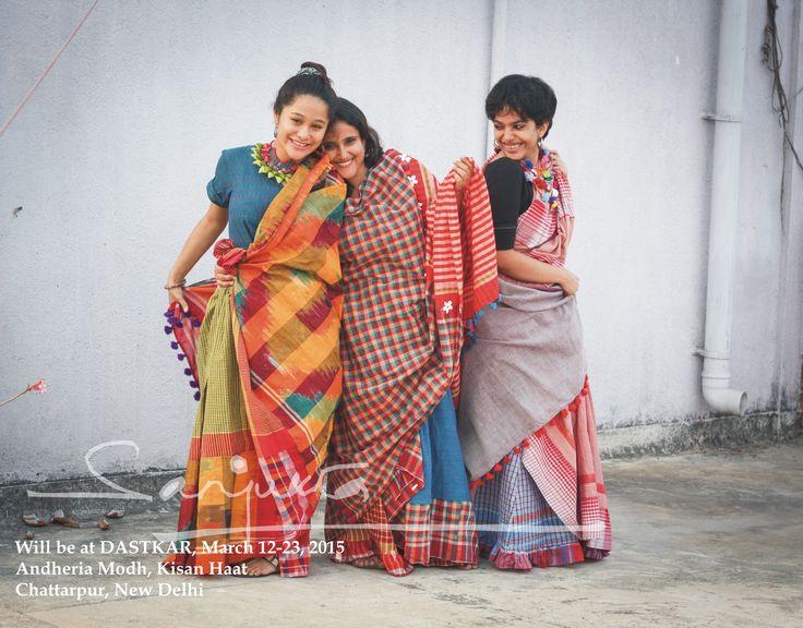 #SANJKUTA #SARI #dastkar #delhi #handwoven #gamccha