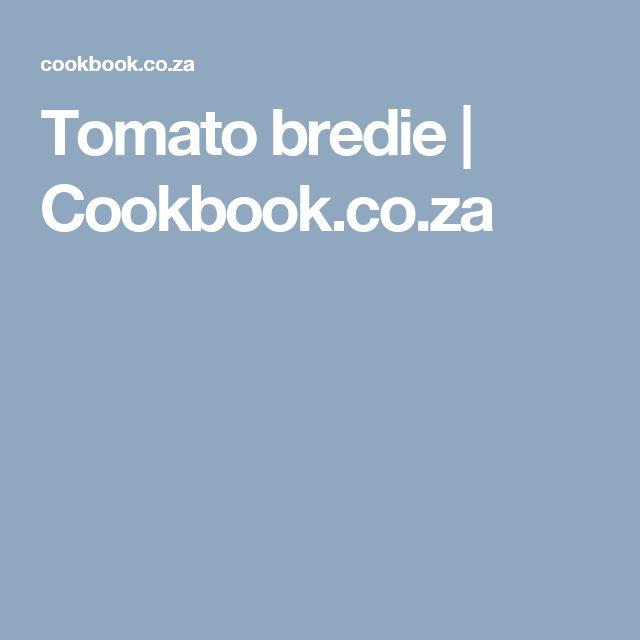 Tomato bredie | Cookbook.co.za