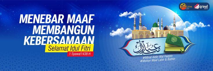 Spanduk Idul Fitri 1438 H Client : Pemuda Lantan Duren - Lombok NTB